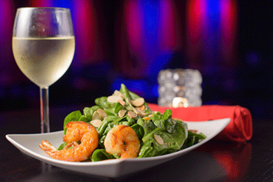 Spinach Salad w/ Shrimp