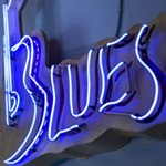 This Blues Neon Sign Has Been Here Since The Beggining!